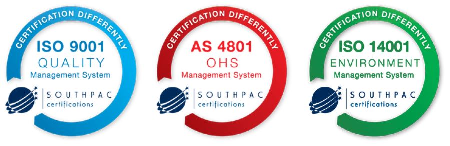 certifications iso 9001 as 4801 iso 14001